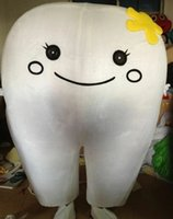 Stage Performance Dental Care Tooth Mascot Costume Halloween Fancy Party Dress Club Cartoon Character Suit Carnival Unisex Adults Outfit Event Promotional Props