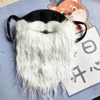 NEWParty Masks Santa Claus Beard Halloween Funny beards White Christmas moustache Dust Proof Cotton Mask ZZE8637