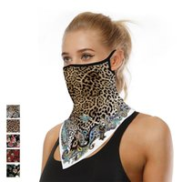 Scarves Leopard Print Neck Guard Gaiter Bandana Headband Triangular Balaclava Skull Decor Mask Unisex Face Scarf Tube