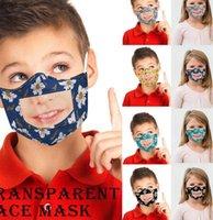 مواجهة الأطفال مع أقنعة شفافة واضحة واضحة الحيوانات الأليفة أطفال القراءة نافذة قناع الشفاه زهرة ljjk2390 bqwcl vlilx