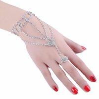 Мода Свадьба Первый высококачественный горный хрусталь лук пальцев женские браслеты браслета поставляет очарование браслеты
