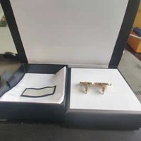 Retro Trend Moda Küpe Yeni Harfler Altın Pirinç Malzeme 925 Gümüş İğne Kadınlar Klipsli Tedarik NRJ