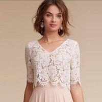 Wraps & Jackets Half Sleeves Wedding Jacket Wrap Bridal Bolero Lace Top Shawl Bride Coat Accessories Custom Made