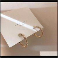 Hoop Hie Consegna 2021 Moda Coreana Esagerazione Dolce grande metallo cerchio rotondo perla d'acqua dolce orecchini per perle d'acqua dolce per le donne ragazza partito