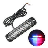 비상 조명 1PC 6 LED 자동차 트럭 대시 스트로브 플래시 라이트 18W 경고 그릴 깜박이 막대 램프