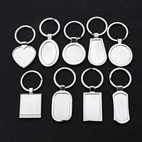 Sublimation Blank keychains Round Love Key Chain Iewelry Thermal Transfer Printing DIY Blank Material Consumables DHA5292