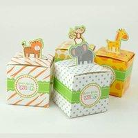 Hediye Wrap ChicinLife 20 adet Orman Safari Hayvan Şeker Kutusu Mutlu Doğum Günü Partisi Bebek Duş Kutuları Erkek Kız Çocuklar 1. Malzemeler