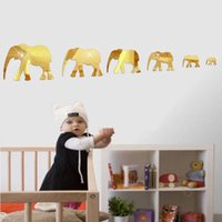 Wallpaper Acrylic wall sell well, acrylic elephant mirror stickers sm home decoration paintings 2021new