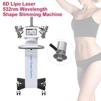 Newest Vertical 6D Laserlipo Shape Machine Fats Removal lipoLaser 532nm Wavelength Slim Green Laser Fat Burning System