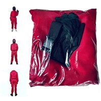 Halloween Toys Squid Game Party Streamer Decorate Supplies Cos Suit Costume Carnival One-Piece With Belt Gloves Red Jumpsuit DHL