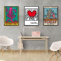 Pinturas Cartel nórdico Pintura de lienzo Abstracto Vintage Retro Viaje de pared Arte Imprimir Minimalismo Imagen moderna para sala de estar Sin marco