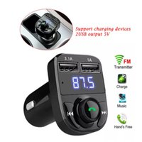 Carregador de carro USB para telefone sem fio FM Transmissor MP3 player Dual TF Cart Handfree