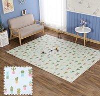 16 pçs / lote engrossar cacto bebê eva espuma play puzzle tapetes para crianças intertravando telhas de exercício piso tapete tapete playmat pad de espessura h0831