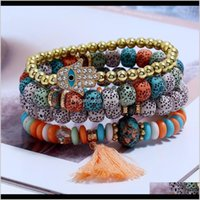 Bangle Bracelets Jewelry Fashion Luxury Designer Cute Lovely Mti Layer Beads Bohemia Tassel Charm Bracelet For Woman Girls Drop Delivery 202