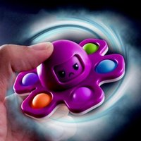 Original Fitget Toys Octopus Fingers Spinner Push Bubble Dice Anti-Irritibilidade Ventilando Artefato Fingertip Novidade Autismo Sensorial Precisa de Ansiedade Reliever Brinquedo