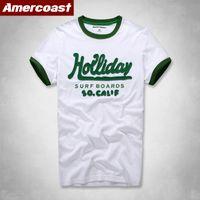 Erkek T-Shirt Kollu AF Kısa Marka Pamuk T-Shirt Yaz Yeni Moda Trendy Sokak Nefis T12B