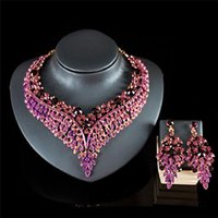 Luxurious Bridal Jewelry Sets Wedding Rhinestone Crystal Necklace Earring Set Women's Party Costume Accessories Jewellery Earrings &