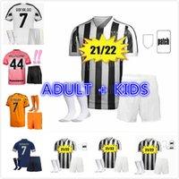 20 21 22 Juventus Dybala Morata Ronaldo Soccer Jerseys Chemise de football à la maison 3ème de Ligt 2021 2022 Juve Jeunes enfants Hommes Kit Kit Enfants Uniforme