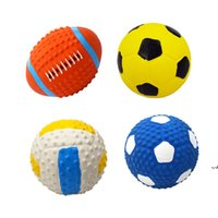 Soft Latex Pet Dog Toy Ball Squeak Toys Cleaning Tooth Chew Voice ToyPet Supplies Non-toxic Training Balls Durable DWB7918