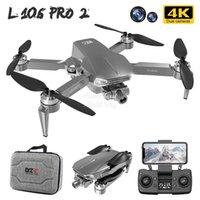 L106 Pro 2 4K Çift Kamera 5G WiFi Drone, Simülatörler, 2 Eksenli Anti Sarsıntı Gimbal, GPS Akıllı Sonrası, Fırçasız Motor, Düşük Güçlü Otomatik İade, RC Mesafe 1200m, 2-1