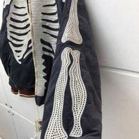 Bordado óseo Kapital 2021full bomba chaqueta hombres Mujeres Otoño Invierno Mangas con cremallera Denim Coat Chaquetas de hombre 8TSG