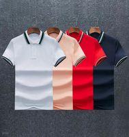Hohe Qualität Männer Polos Alligator Sommer Kurzarm Shirts Baumwolle Beiläufige Feste Farbe Hemd Männer Mode Homme Tops