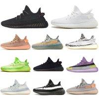 Yeezy 350 V2 Running shoes Static Reflective Kanye west لرجال النساء الاحذية حمار وحشي أسود أبيض أحذية رياضية يورو 36-47 بدون صناديق
