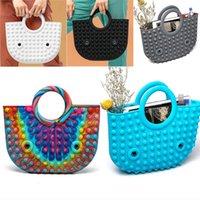 Finger Toys Silicone Rainbow Push It Bubble Fashion handbag Fidget Party Simple Dimple Decompression Relief handbags