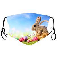 Designer face masks Easter bunny egg printed cotton cloth washable mask adult dust and haze masks