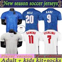 Fan Edition Leader Version Sancho Kane Regno Unito Soccer Jersey 2022 Sterling Rashford Henderson Barkley Maguire National Football Camicie da calcio Uomo + Kids Kit Set Uniformi