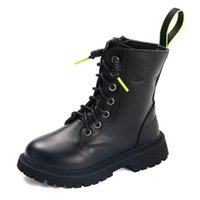 Kids Boots Children Shoes Childrens Girls Boys Short Boot Autumn Winter Fashion Leather Footwear Students Moccasins Soft B8312