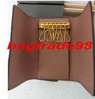 Bolsa tem saco de alta qualidade famosos mulheres designer mulheres 6 chave titular moeda bolsa de couro homens porta carteiras bolsa 62630