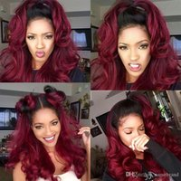 360 Lace Frontal Wig 1B 99J Body Wave Lace Front Human Hair Wigs With Baby Hair Black Ombre Burgundy Colorful Purple Red