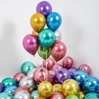 10Pcs Metallic Ballons Gold Silver Green Purple Wedding Happy Birthday Latex Balloons Metal Air Helium Baloon Party Decoration