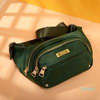 2021 new large-capacity waist bags fashion women's canvas messenger bag sports running shoulder bag