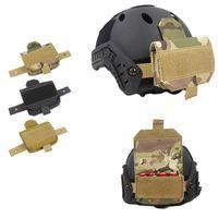 Outdoor Airsoft Paintball Shooting Tactical Fast Helmet Casco Accessorio Contrappeso Kit Bilanciamento Borsa da equilibratura per casco P01-167