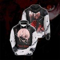 Sweats à capuche Homme Sweatshirts Anime Tokyo Guoul Hoodie 3D Print Hood Sweat-shirt Veste Pull