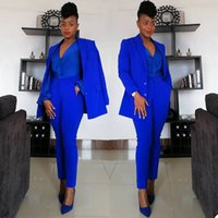Royal Blue Jumpsuits Mother Of The Bride Pant Suits Bridal Suit Blazer Pants Coat Formal Business Party Prom Evening Tuxedos