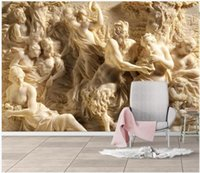 Wallpapers WDBH Custom PO 3D behang reliëf Griekse mythische figuur achtergrond schilderij home decor woonkamer voor muren 3 d