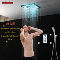 Кристаллические подвесные потолочные дождевые головки для душа массаж для душа ванная комната скрытая термостатическая многофункциональная установка крана крана