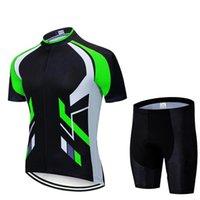 Uomo che guida Jersey T-shirt manica corta per motocross motocicli di sporco Bike ciclismo da ciclismo PUZ777 Set