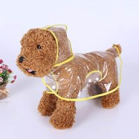 Dog Apparel Clothes Transparent Raincoat Waterproof Hooded Puppy Raincoats Hoody Clothing SF66