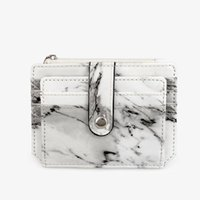 Card Holders Marble Texture Holder Short White Small Multi-card Bag Business Pocket Slim Thin ID Money Wallet
