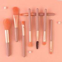 Makeup Brushes 8 Mini Portable Concealer Brush Set Cross-border Beauty Foundation Eyeshadow Tool