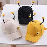Caps & Hats Girls Cute Baseball Children Cartoon Bee Sun Boys Kids Summer Spring Autumn Sunscreen Adjustable Snapback Hip-Hop Hat