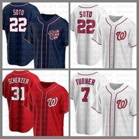 واشنطن البيسبول جيرسي المواطنون مخصص 22 خوان سوتو 31 ماكس شيرزر 7 تريل تيرنر بريس 6 أنتوني رندون 34 هاربر 11 ريان زيمرمان