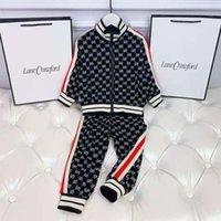 Baby-Winter-Käppchen Sets 2pieces Langarm Hoodie + Hosen Kind Mädchen Boutique Herbst Kleidung Set 100-150 cm