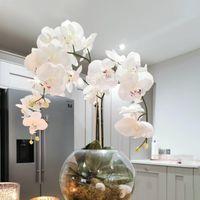 Decorative Flowers & Wreaths Silk Artificial Butterfly Orchid Flower Bouquet Phalaenopsis Fake Home Wedding Decoration DIY Crafts Decor