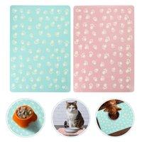 Kennels & Pens 2pcs Pet Dish Pad Dog Food Water Bowl Placemat Cat Feeding Mat Cushion