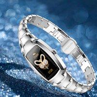 H8 Pro Smart Watch Mulheres Mulheres Circues Cycle Cycle Feminina Relógios Coração Monitoramento Lembrete Lembrete Fitness Bracelet para Android iPhone Monitor de pressão arterial